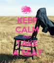 KEEP CALM AND TAKE A SEAT - Personalised Poster large