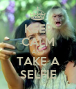 KEEP CALM AND TAKE A SELFIE - Personalised Poster large