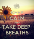 KEEP CALM AND TAKE DEEP  BREATHS - Personalised Poster large