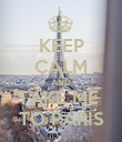 KEEP CALM AND TAKE ME  TO PARIS - Personalised Poster large