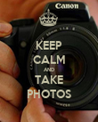 KEEP CALM AND TAKE PHOTOS - Personalised Poster large