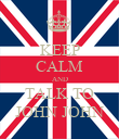 KEEP CALM AND TALK TO JOHN JOHN - Personalised Poster large