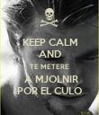 KEEP CALM AND TE METERE  A MJOLNIR POR EL CULO - Personalised Poster large
