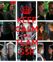KEEP CALM AND TEAM GSR - Personalised Poster large