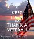 KEEP CALM AND THANK A VETERAN - Personalised Poster large