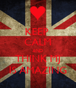 KEEP  CALM AND  THINK MJ IS AMAZING - Personalised Poster large