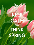KEEP CALM AND THINK SPRING - Personalised Poster large