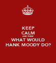 KEEP CALM AND THINK WHAT WOULD HANK MOODY DO? - Personalised Poster large