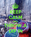 KEEP CALM AND THROW A DIP IN - Personalised Poster large