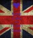 Keep Calm And Ti amo Giada - Personalised Poster large