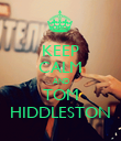 KEEP CALM AND TOM HIDDLESTON - Personalised Poster large