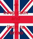 keep calm  and  totaly  listin to  lmfao - Personalised Poster large