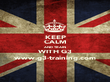 KEEP CALM AND TRAIN WITH G3 www.g3-training.com - Personalised Poster large