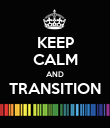 KEEP CALM AND TRANSITION  - Personalised Poster large