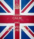 KEEP CALM AND TRAVEL TO ENGLAND CHAP - Personalised Poster large
