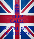 KEEP CALM AND TRAVEL WITH  THE DOCTOR - Personalised Poster large