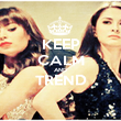 KEEP CALM AND TREND  - Personalised Poster large