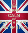 KEEP CALM AND TROT THE HELL  ON SMILING - Personalised Poster large