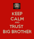KEEP CALM AND TRUST  BIG BROTHER - Personalised Poster large