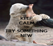 KEEP CALM AND TRY SOMETHING NEW - Personalised Poster large