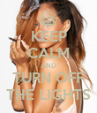 KEEP CALM AND TURN OFF THE LIGHTS - Personalised Poster large