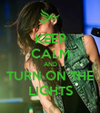 KEEP CALM AND TURN ON THE LIGHTS - Personalised Poster large