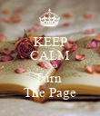 KEEP CALM AND Turn  The Page - Personalised Poster large
