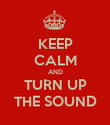 KEEP CALM AND TURN UP THE SOUND - Personalised Poster large
