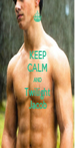 KEEP CALM AND Twilight Jacob - Personalised Poster large