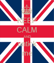 KEEP CALM AND untick me - Personalised Poster large