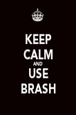 KEEP CALM AND USE BRASH - Personalised Poster large