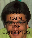 KEEP CALM AND USE CONSEPTOS - Personalised Poster large