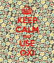 KEEP CALM AND USE OXI - Personalised Poster large