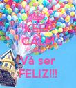 KEEP CALM AND Vá ser FELIZ!!! - Personalised Poster large