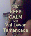 KEEP CALM AND Vai Levar Tamancada - Personalised Poster large