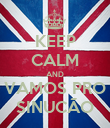 KEEP CALM AND VAMOS PRO SINUCÃO - Personalised Poster large