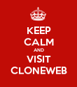 KEEP CALM AND VISIT CLONEWEB - Personalised Poster large