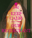 KEEP CALM AND VISIT OUR RESTAURANT - Personalised Poster large