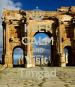 KEEP CALM AND Visit  Timgad - Personalised Poster large