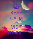 KEEP CALM AND VISIT TUMBLR - Personalised Poster large