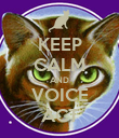 KEEP CALM AND VOICE ACT - Personalised Poster large