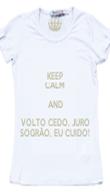 KEEP CALM AND VOLTO CEDO, JURO SOGRÃO, EU CUIDO! - Personalised Poster large
