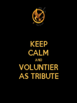 KEEP CALM AND VOLUNTIER AS TRIBUTE - Personalised Poster large