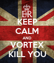 KEEP CALM AND VORTEX KILL YOU - Personalised Poster large