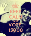 KEEP CALM AND VOTE  15008 - Personalised Poster large