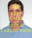 KEEP CALM AND VOTE 45 DR. CARLOS WEDEKIN - Personalised Poster large