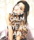 KEEP CALM AND VOTE FOR ARI - Personalised Poster large