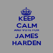 KEEP CALM AND VOTE FOR JAMES HARDEN - Personalised Poster large