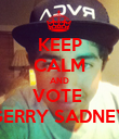 KEEP CALM AND VOTE  GERRY SADNEY - Personalised Poster large