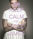 KEEP CALM AND  VOTE JAMES  - Personalised Poster small